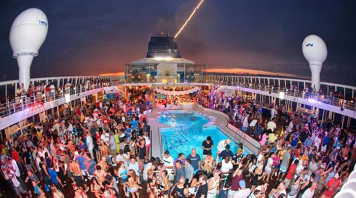 Big Bad Boat Bashes Party Around The World - Cruise ship party